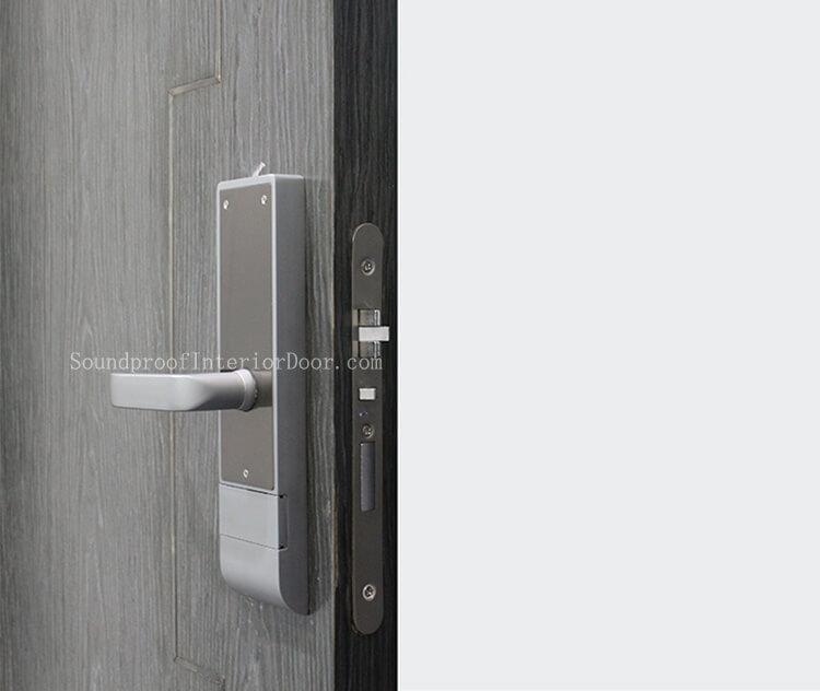 Sound Resistant Doors Black Composite Door With Black Frame Soundproof Doors Supplied