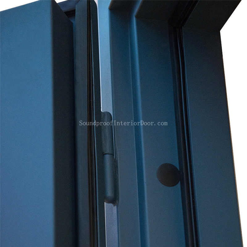 Soundproof Door With Viewing Panel STC 45 Steel Door With Steel Frame
