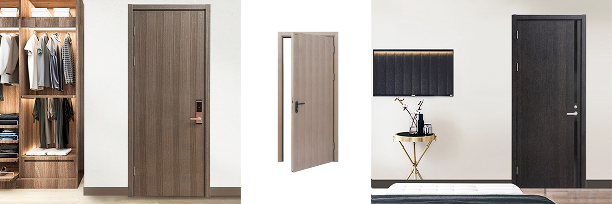 wooden soundproof interior door